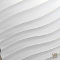 """Гипсовая 3D панель """"Волна диагональная мелкая"""" 500-500-25мм"""