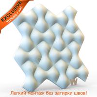 """Premium Бесшовная 3D панель """"Пересечения v.3.0. объемные"""" 500-500-25мм"""