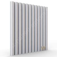 """3D дизайнерская панели """"Параллели-500"""" 500-500-25мм"""