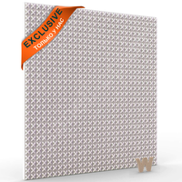 """Эксклюзивная дизайнерская 3D панель """"Крестики"""" 500-500-12мм"""