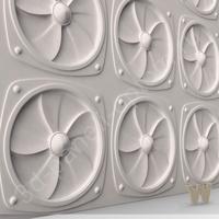 "PREMIUM Декоративные 3D панели ""Вентилятор"" 600-600-50мм"