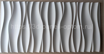"""3D панели """"Волна Атлантика"""" 500-500-25мм"""
