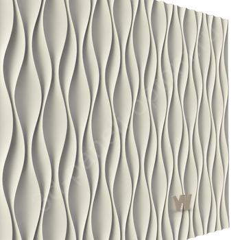 "3D дизайнерская панели ""Волна Кувин"" 500-500-25мм"