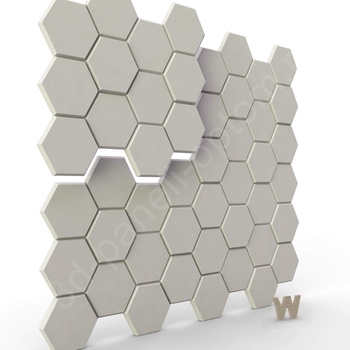"""Бесшовные 3D панели """"Шестигранник 2.0."""" 500-500-25мм"""