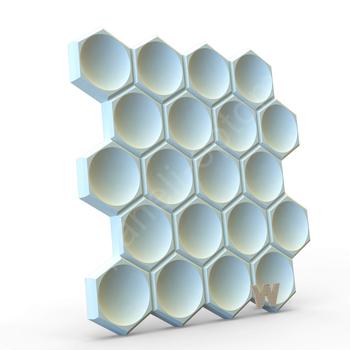 """Бесшовная 3D панель """"Соты"""" 500-500-25мм"""