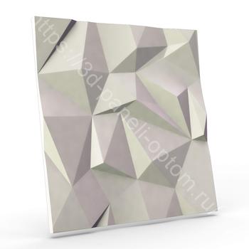 """3D дизайнерская панели """"Скала v.2.0-lite"""" 500-500-25мм"""